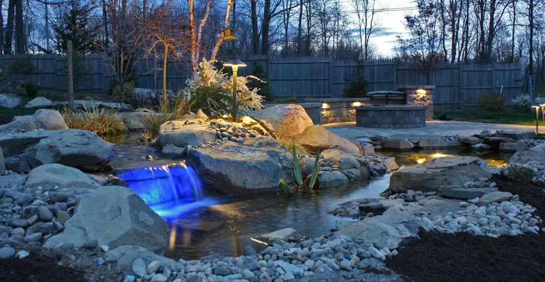 Koi pond or vanishing waterfalls aztlan outdoor living for Best koi pond design 2017